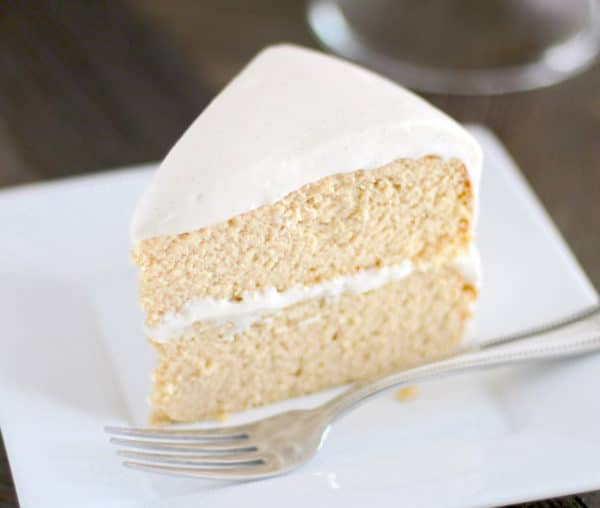 The Fluffiest Gluten Free Vanilla Cake Recipe sugar free low carb