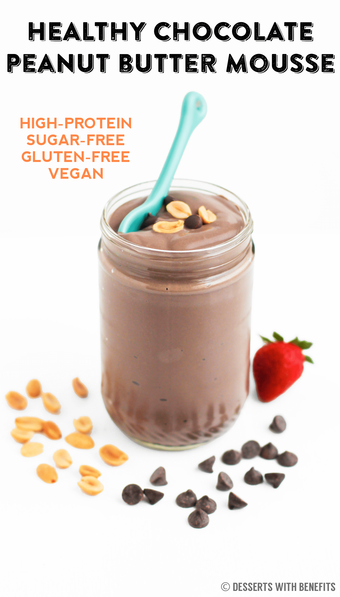 Healthy chocolate peanut butter mousse desserts with for Dessert recipes using peanut butter