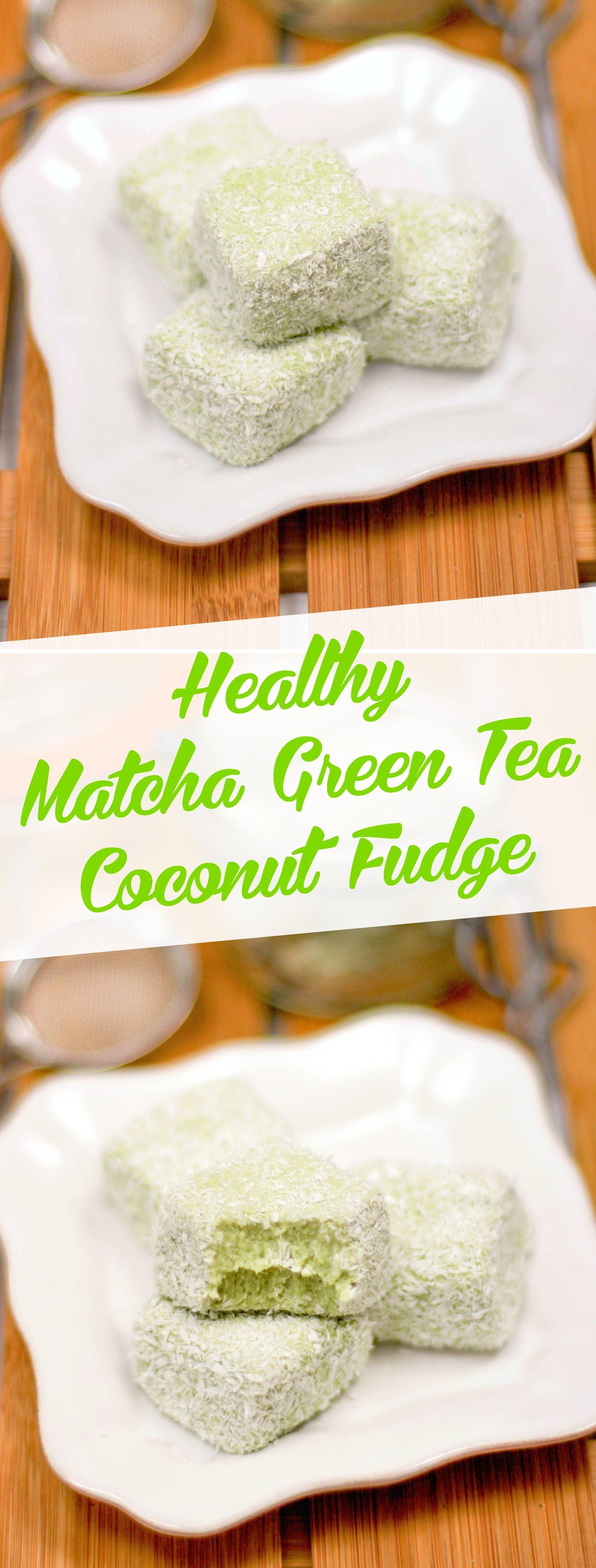 Healthy Matcha Coconut Fudge - Desserts with Benefits