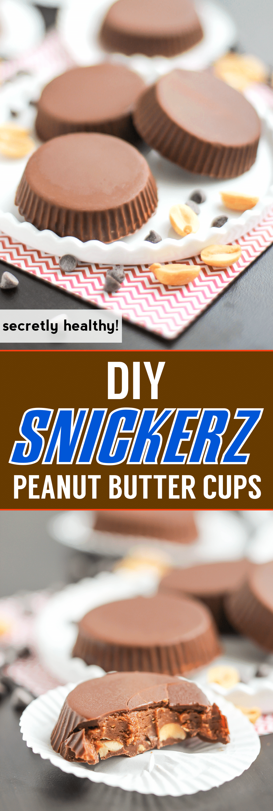 Like Reese's peanut butter cups? Then you'll LOVE these healthy, yet deliciously addictive, Snickerz Candy Cups filled with peanut butter, caramel, and chocolate! It's like a Snickers and Reese's morphed into one, and made guilt-free! -- Healthy Dessert Recipes at the Desserts With Benefits Blog
