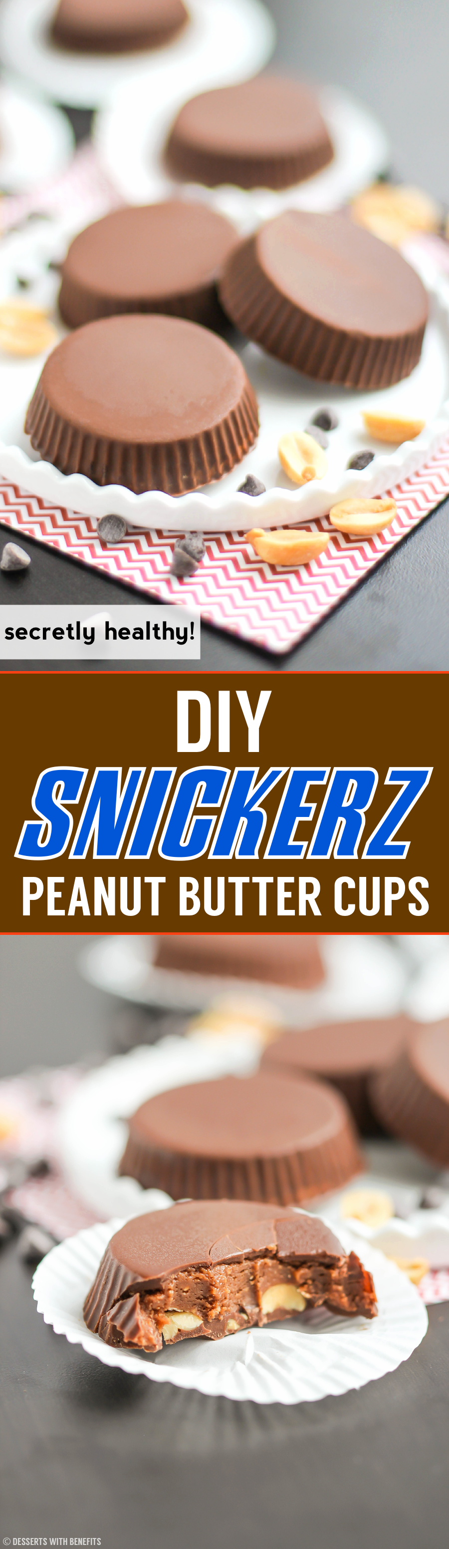 Healthy Snickerz Candy Cups recipe (refined sugar free) - Healthy Dessert Recipes at Desserts with Benefits