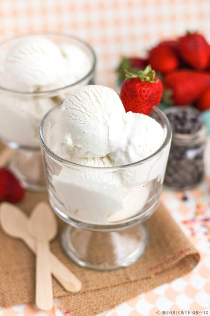 Easy, Healthy Vanilla Bean Greek Frozen Yogurt with the Better Homes ...