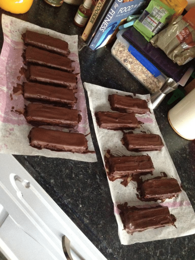Healthy DIY Protein Bars from the DIY Protein Bars Cookbook (refined sugar free, low carb, high protein, high fiber, gluten free, dairy free, vegan) – authored by Jessica Stier of the Desserts with Benefits Blog