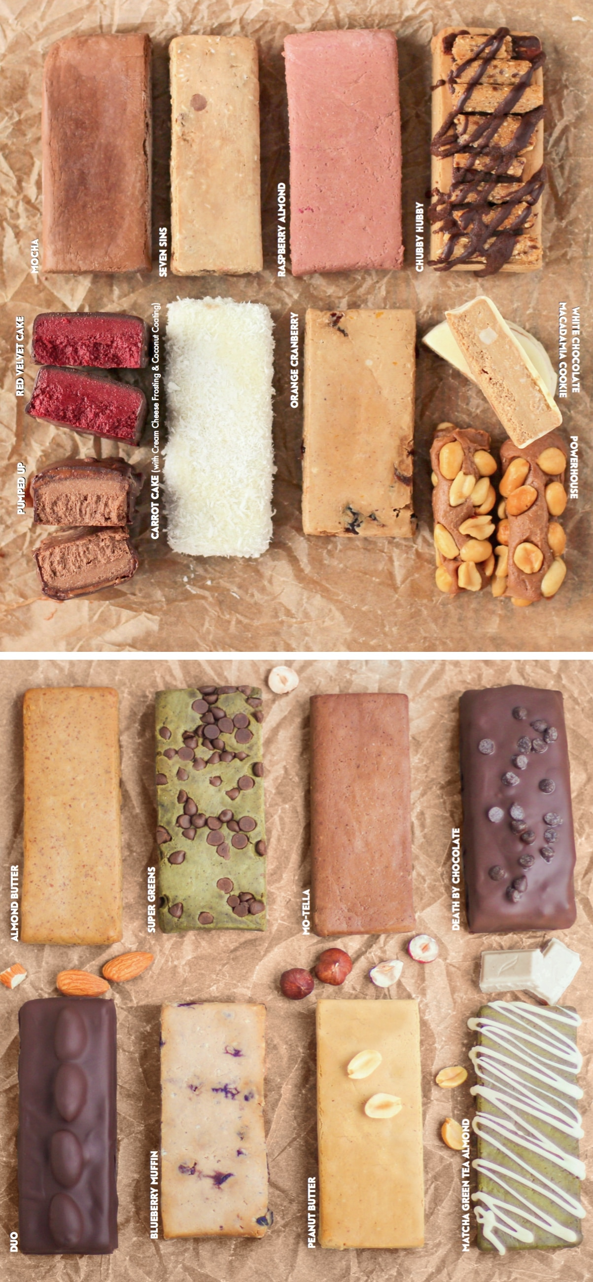 A sneak preview of inside the DIY Protein Bars Cookbook! Authored by Jessica Stier of Desserts with Benefits