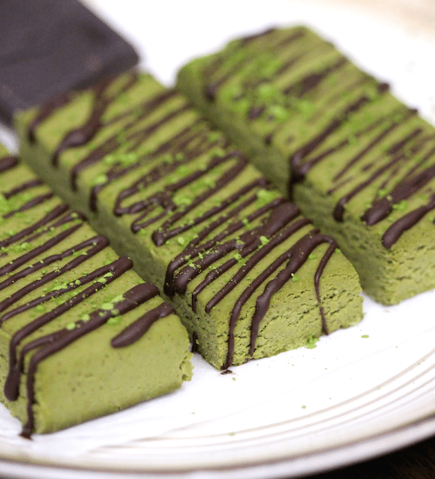 Healthy Matcha Green Tea DIY Protein Bars from the DIY Protein Bars Cookbook – Jessica Stier of Desserts with Benefits