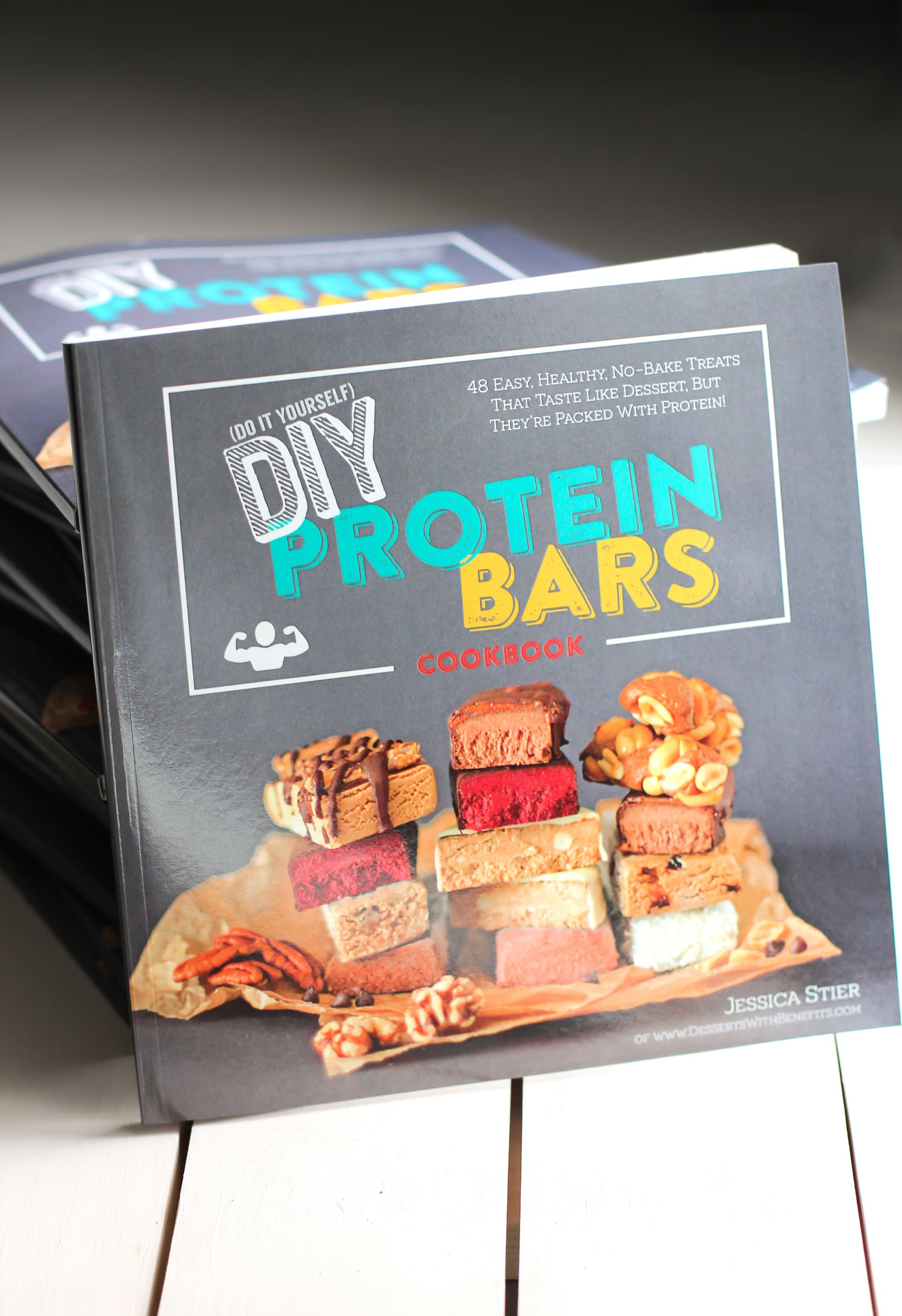The DIY Protein Bars Cookbook is a collection of 48 easy, healthy no-bake protein bar recipes! Homemade protein bars are healthier than storebought, and they're also cheaper. You'll fall in love with each and every protein bar recipe!