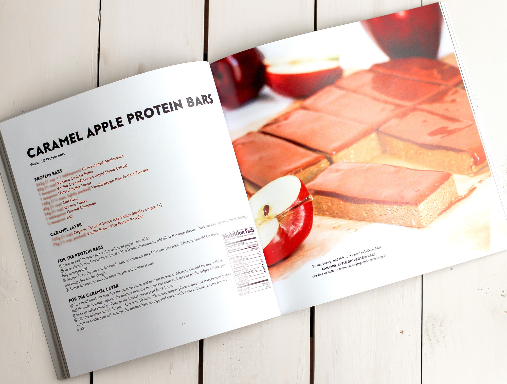 The DIY Protein Bars Cookbook is a collection of 48 easy, healthy, no-bake treats that just happen to be packed with protein! Authored by Jessica Stier of the Desserts with Benefits Blog