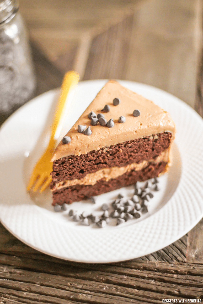 Healthy Chocolate Cake with Peanut Butter Frosting recipe (sugar free ...