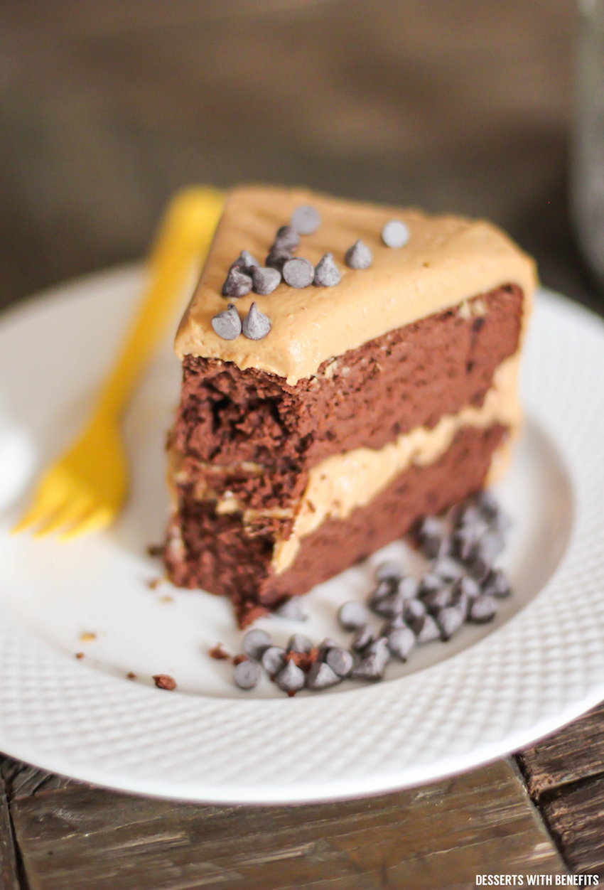 Healthy Chocolate Cake With Peanut Butter Frosting Sugar