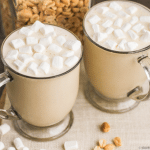 Healthy Fluffernutter Smoothie Recipe (all natural, low sugar, high protein, gluten free) - Desserts with Benefits