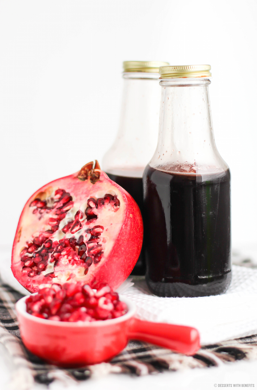 Healthy Homemade Grenadine Syrup Recipe (all natural, refined sugar ...