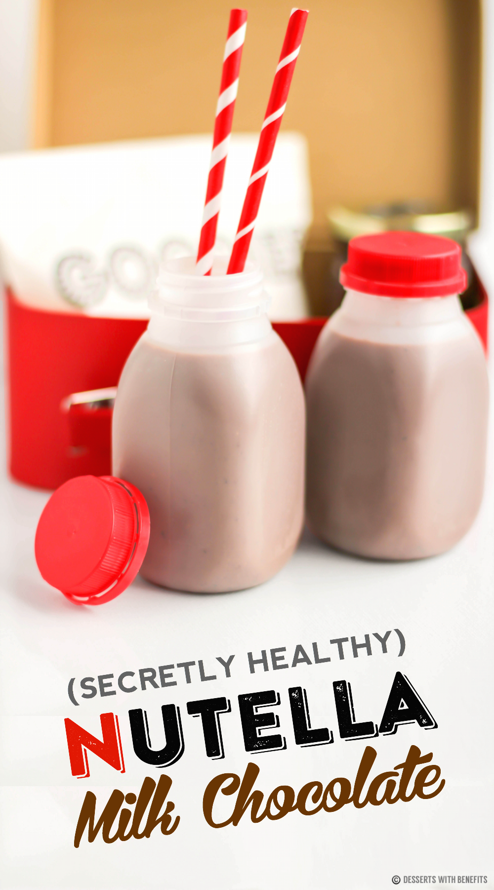 Healthy Nutella Chocolate Milk (sugar free, low carb, vegan)