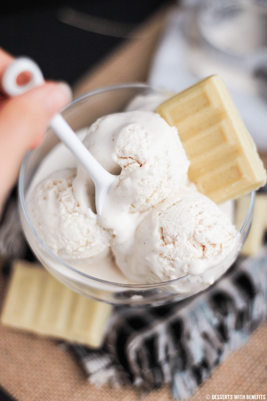Healthy White Chocolate Peanut Butter Ice Cream Sugar