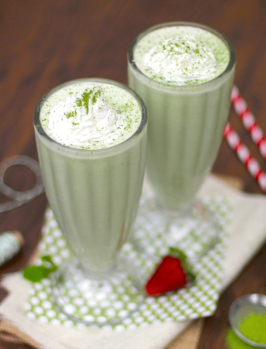 Healthy Matcha Green Tea Milkshake recipe (sugar free, high protein ...