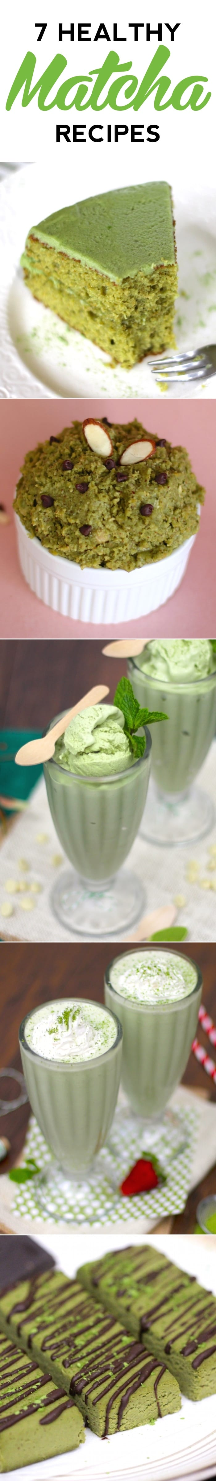 Healthy Matcha Green Tea Recipes (sugar free, gluten free, high protein) - Desserts with Benefits