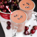 Healthy Black Forest Milkshake (refined sugar free, high protein) - Desserts with Benefits