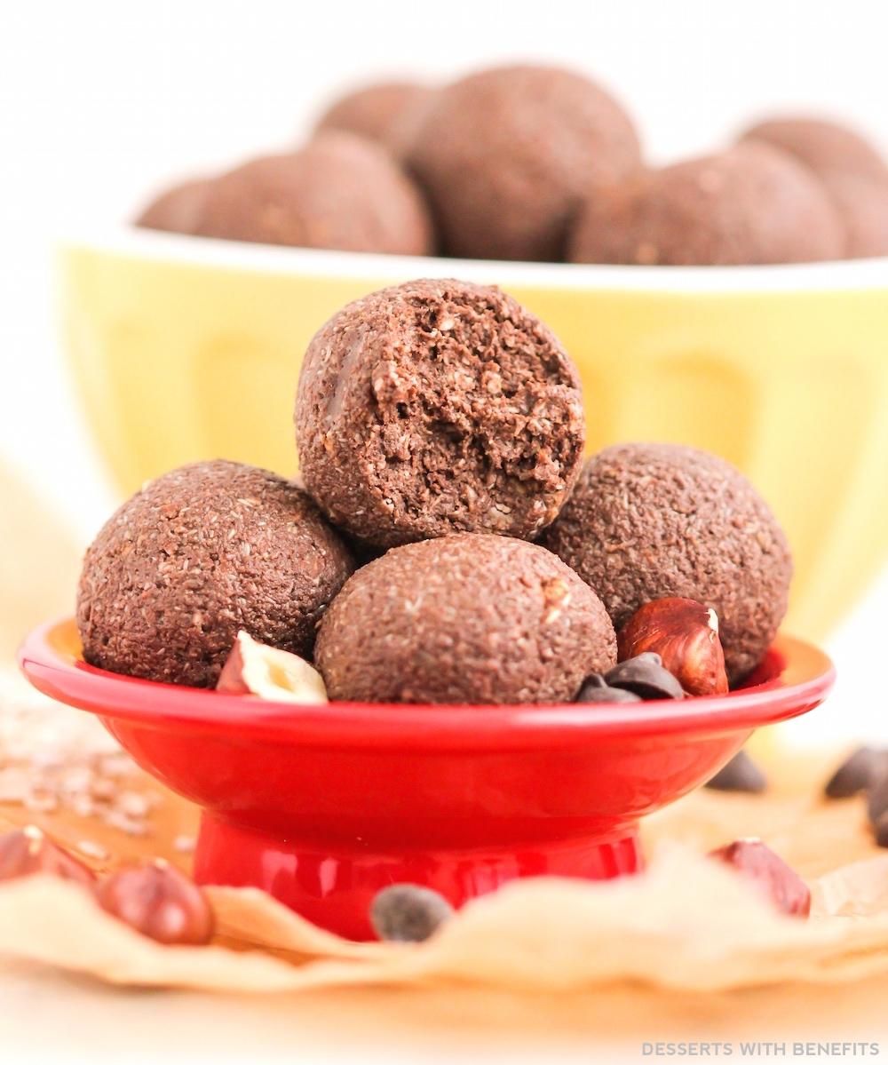 Nutella Fudge Energy Bites (refined sugar free, gluten free, vegan ...