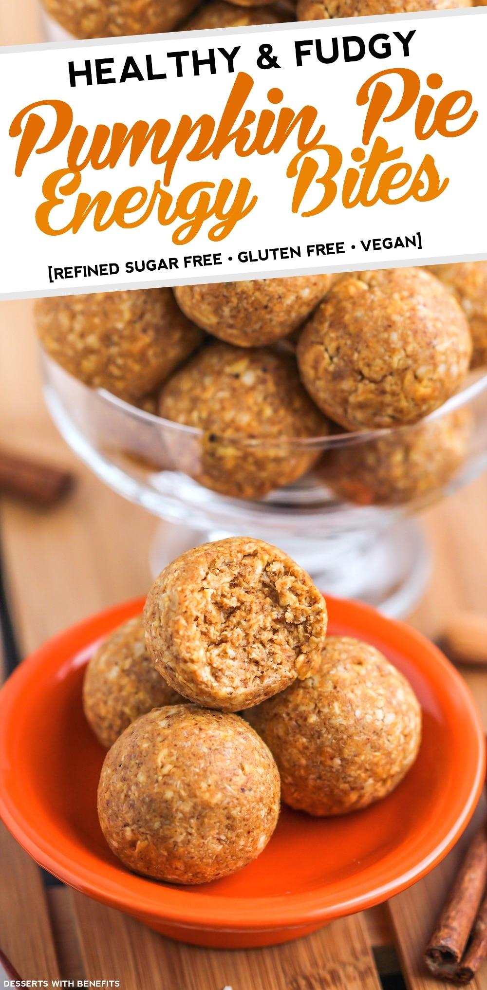 Healthy Fudgy Pumpkin Pie Energy Bites (refined sugar free, gluten ...