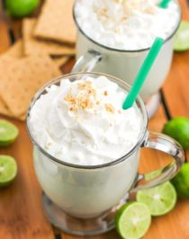 Healthy Key Lime Pie Milkshake (refined sugar free, low carb, high protein, gluten free)