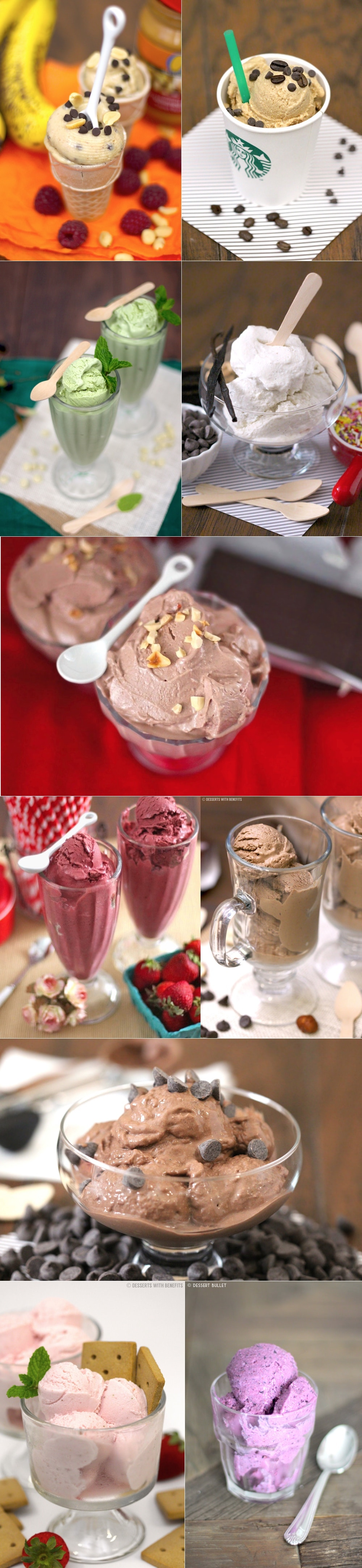 14 Popular Healthy Ice Cream Recipes (refined sugar free, low low fat, carb, high protein, gluten free) - Desserts with Benefits