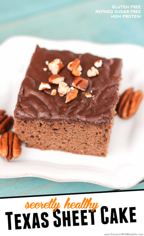 Healthy Texas Sheet Cake (sugar free, gluten free)