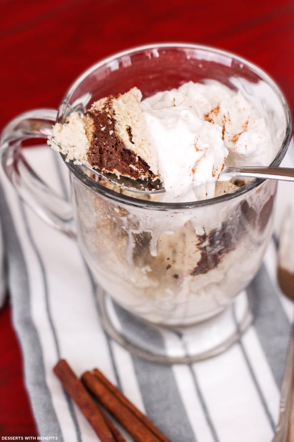 Healthy Single Serving Microwave Coffee Cake
