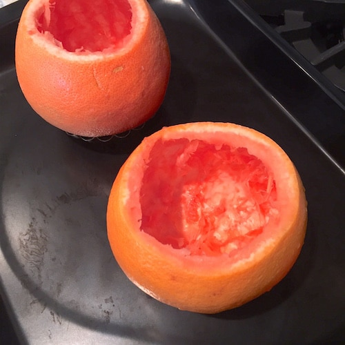 Making Healthy Grapefruit Yogurt Cake… Baked in a Grapefruit! (refined sugar free, low carb, low fat, high protein, high fiber, gluten free) - Healthy Dessert Recipes at Desserts with Benefits
