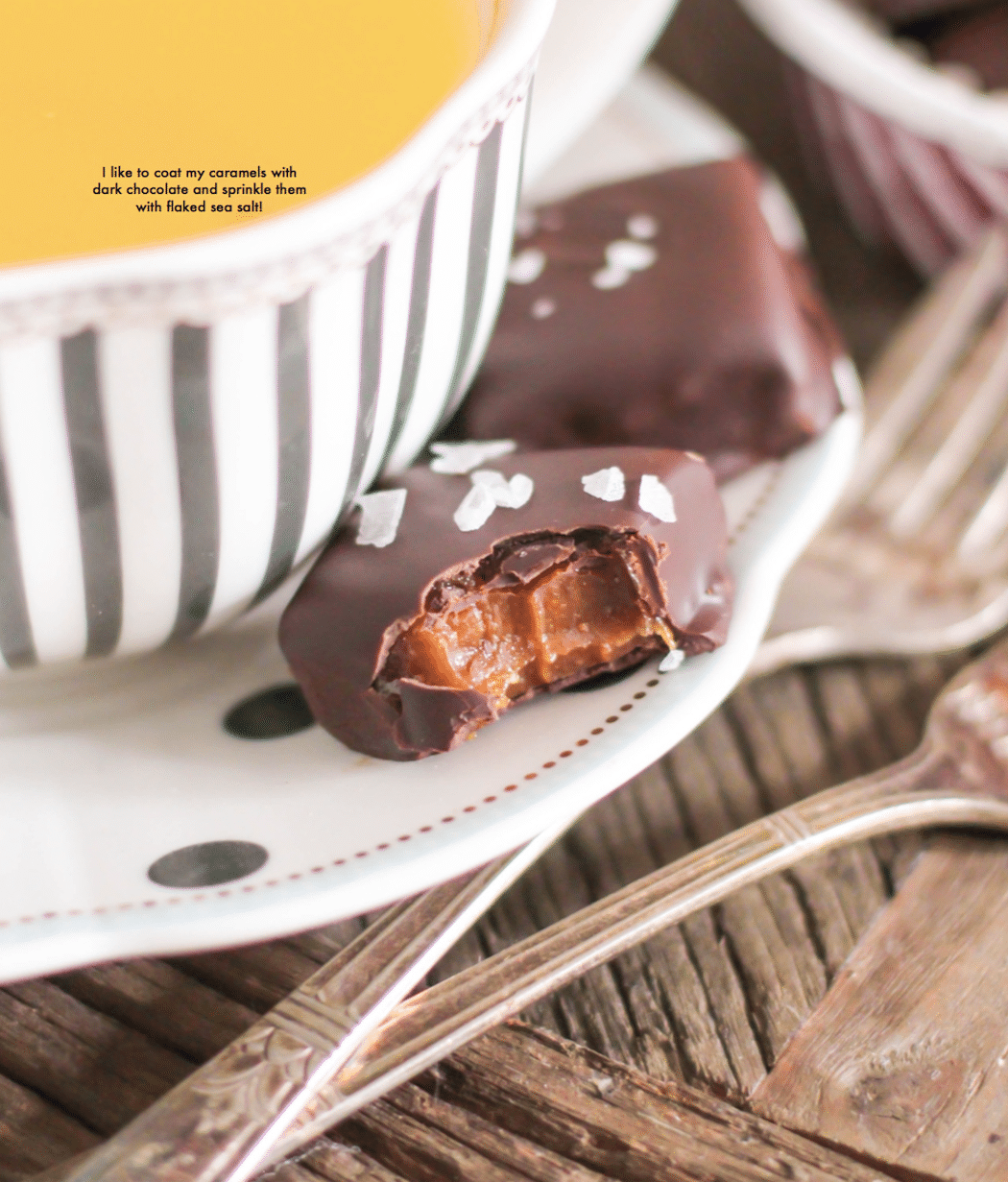 Chewy Caramels from the Naughty or Nice Cookbook: The ULTIMATE Healthy Dessert Cookbook!