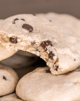 Chocolate Chip Cookies (sugar free, gluten free, dairy free, vegan) from the Naughty or Nice Cookbook: The ULTIMATE Healthy Dessert Cookbook – Jessica Stier of Desserts with Benefits