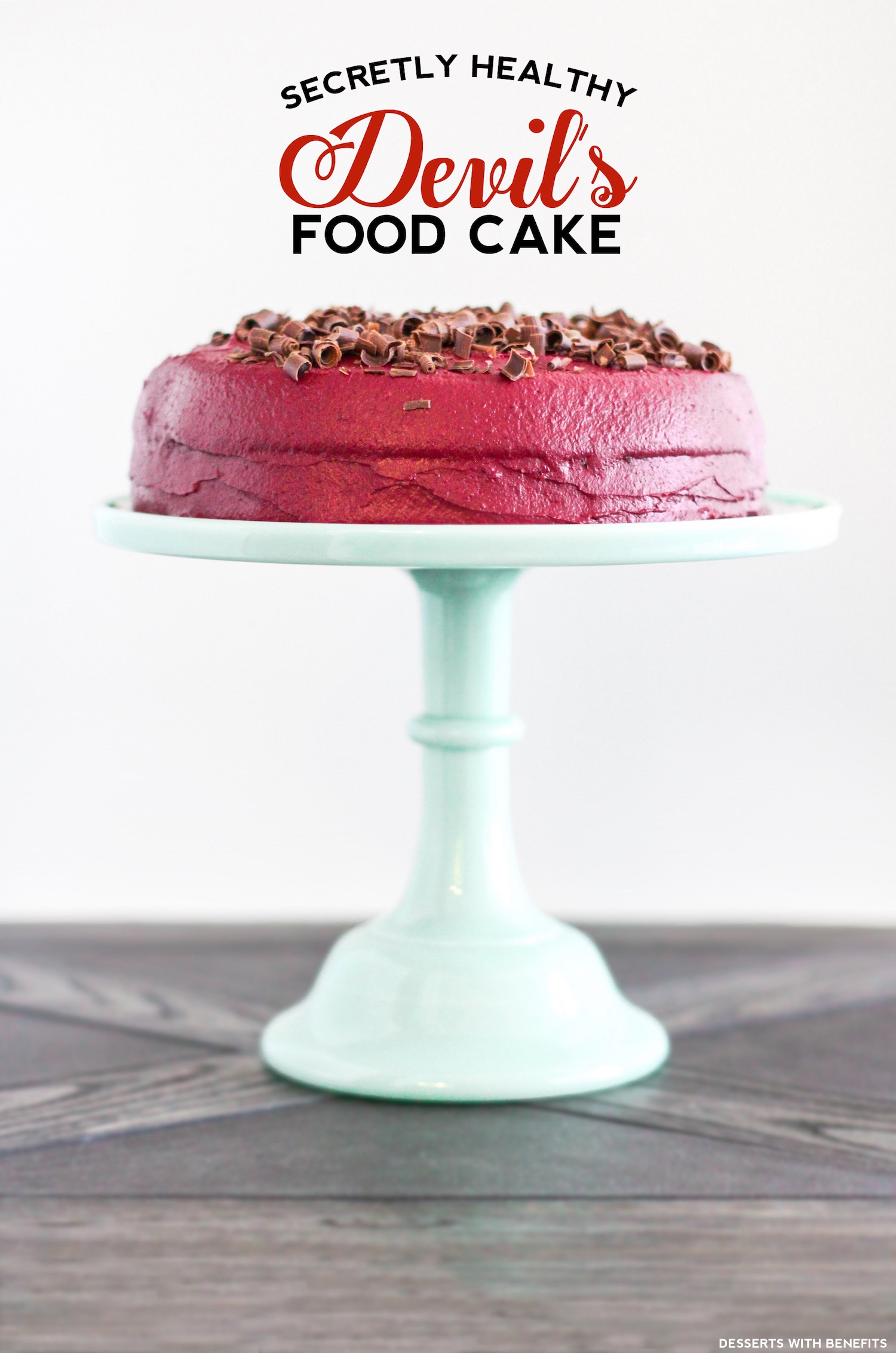 Healthy Devil's Food Cake with Red Velvet Frosting (refined sugar ...