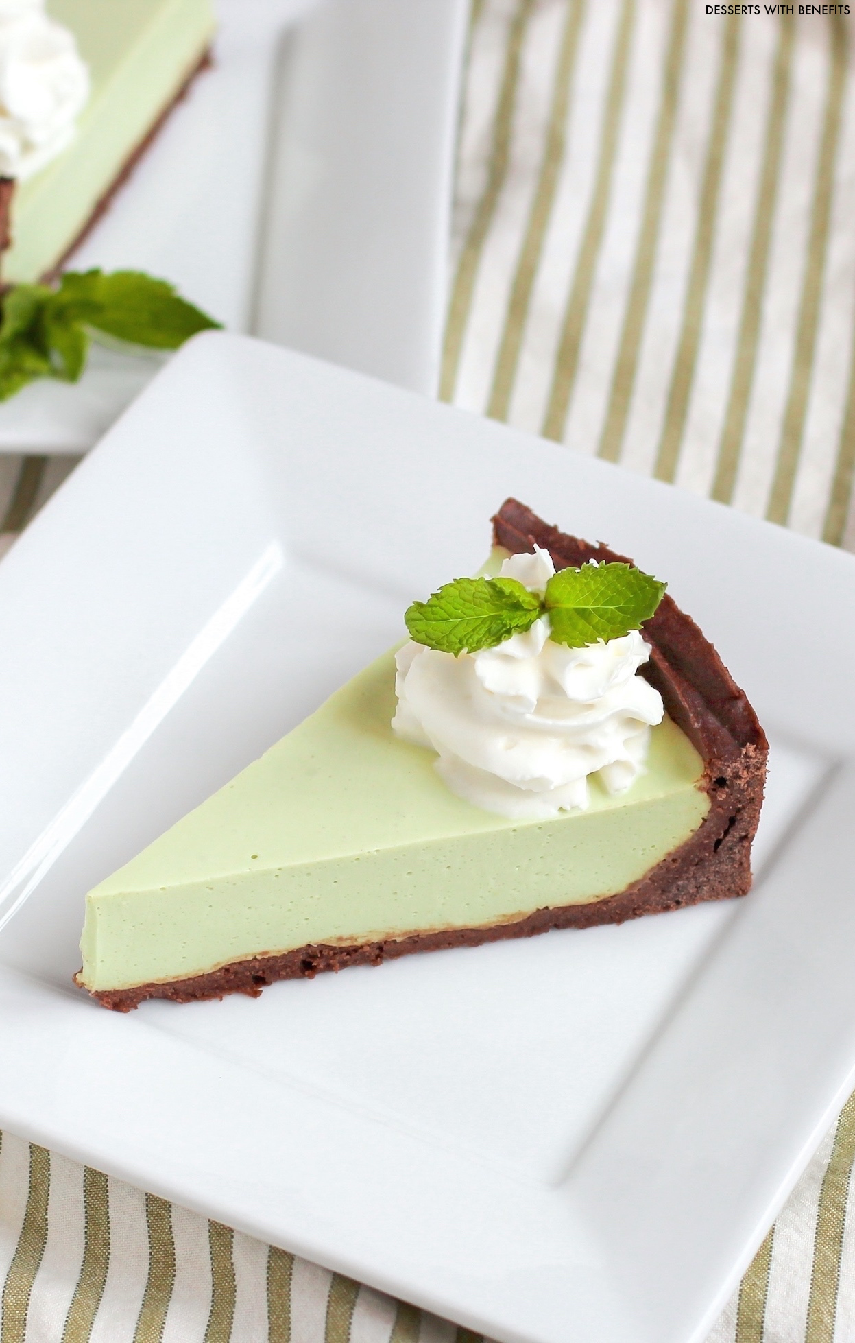 [14 healthy pie recipes to celebrate Pi Day] Healthy Grasshopper Pie from the Naughty or Nice Cookbook: The ULTIMATE Healthy Dessert Cookbook!