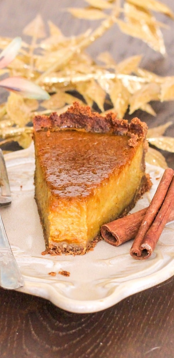 Healthy Pumpkin Pie recipe (gluten free, dairy free)