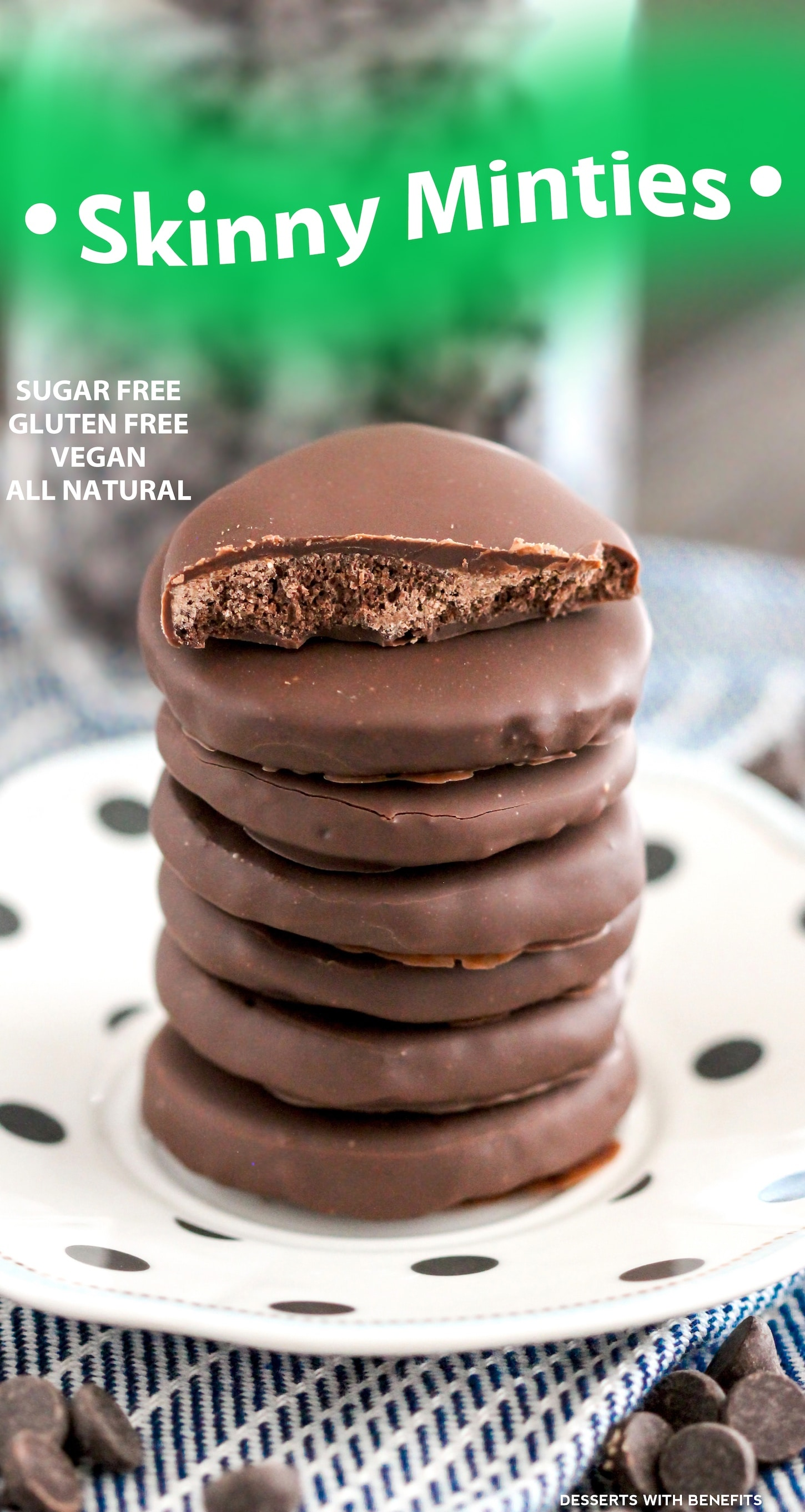 Healthy Homemade Thin Mints recipe (refined sugar free, gluten free, dairy free, vegan) - Healthy Dessert Recipes at Desserts with Benefits