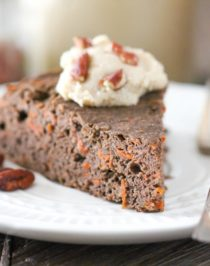 Healthy Buckwheat Carrot Cake (gluten free, vegan) - Healthy Dessert Recipes at Desserts with Benefits