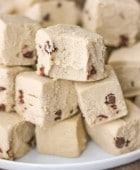 Healthy Chocolate Chip Cookie Dough Fudge (sugar free, gluten free, dairy free, vegan) - Healthy Dessert Recipes at Desserts with Benefits