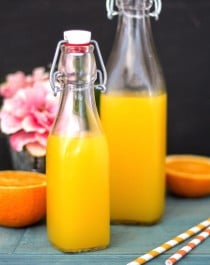 Healthy Homemade Orange Syrup (refined sugar free, low carb, low calorie) - Healthy Dessert Recipes at Desserts with Benefits