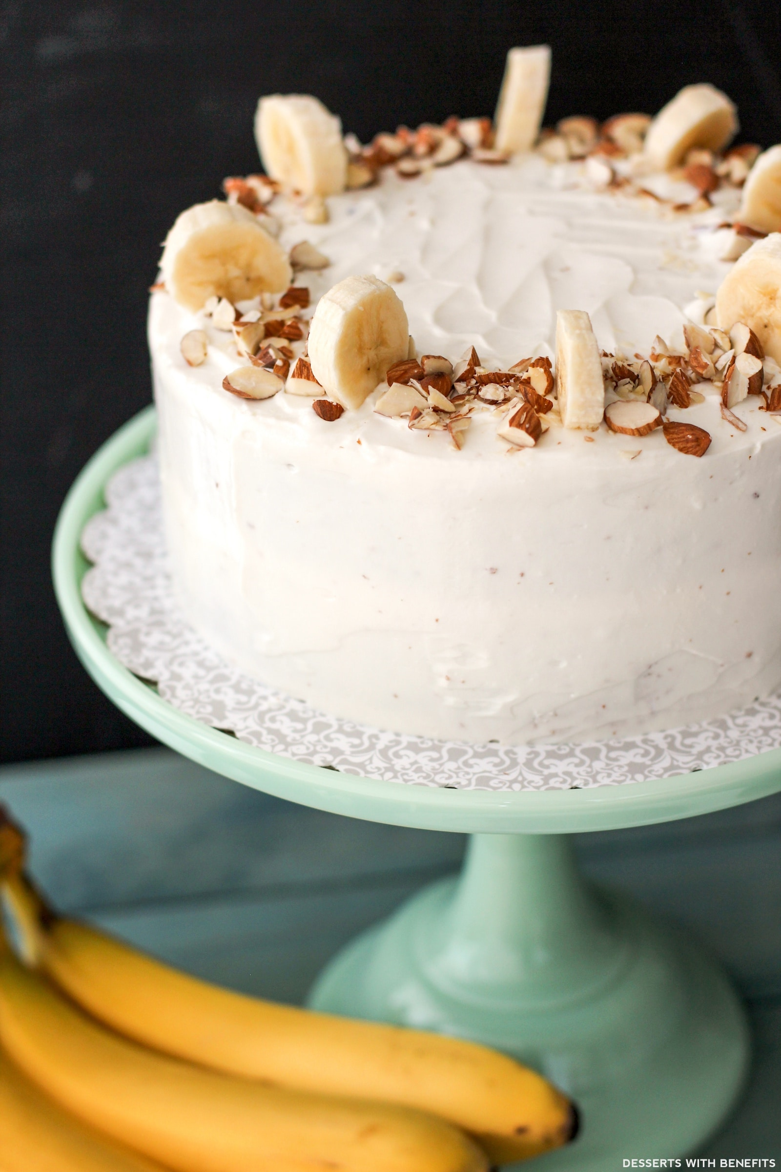 Healthy Banana Cake With Cream Cheese Frosting Refined Sugar Free High Protein
