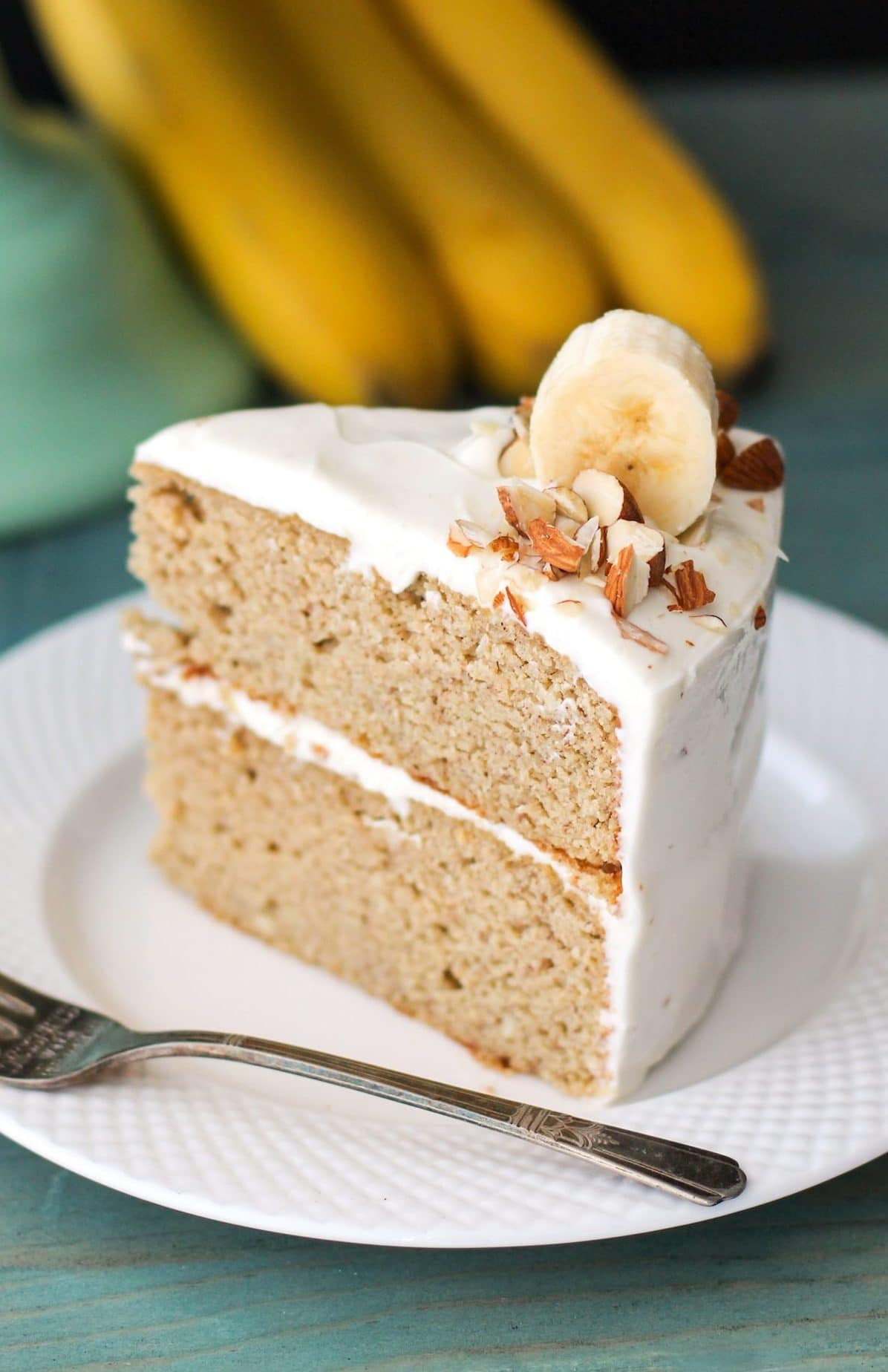Gluten Free Healthy Banana Cake With Cream Cheese Frosting