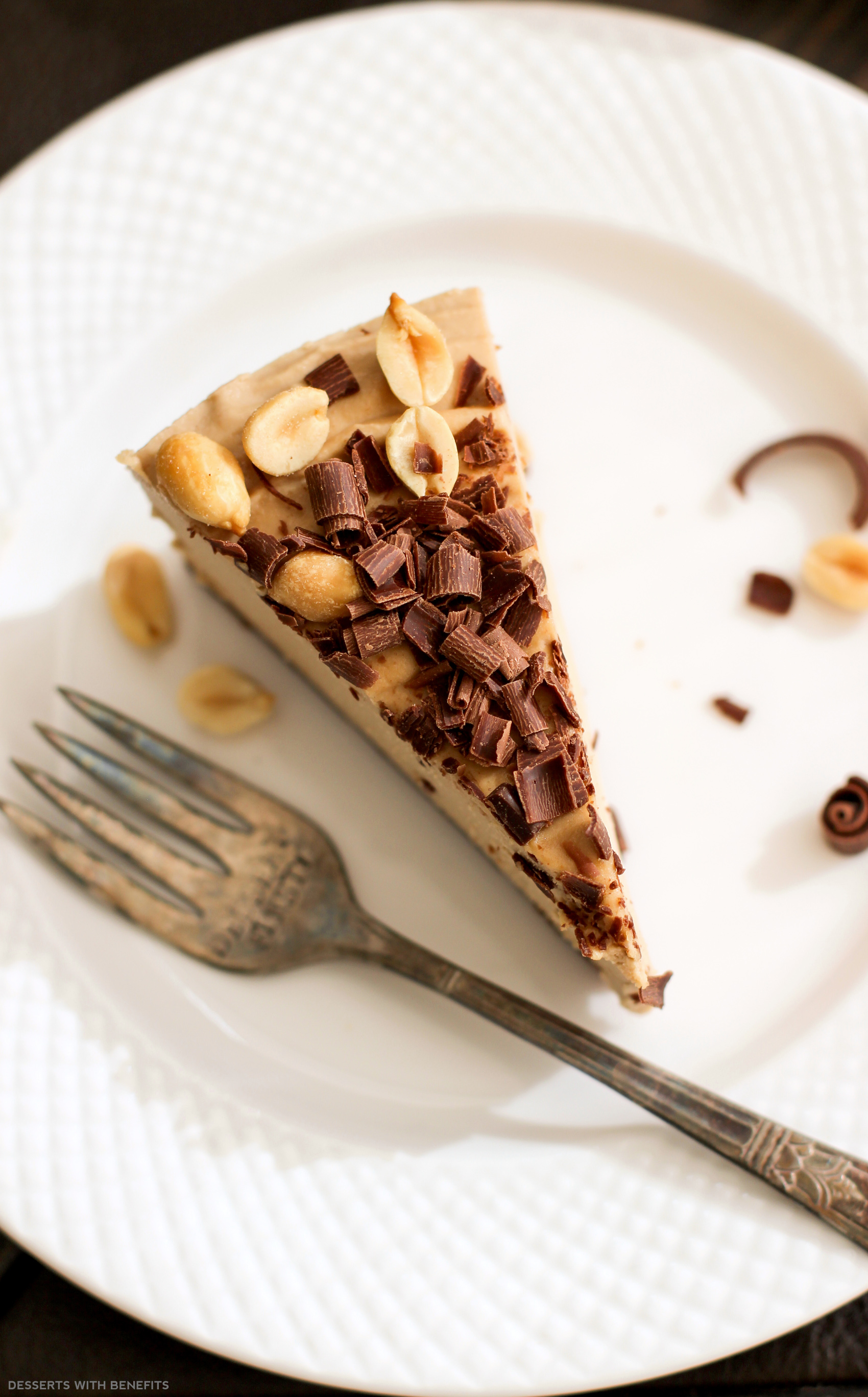 Healthy Chocolate Peanut Butter Raw Cheesecake Vegan Low