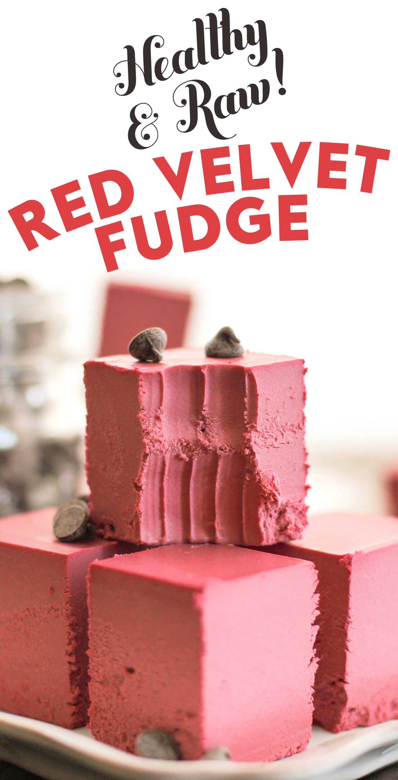 Healthy Raw Red Velvet Fudge (no bake, sugar free, low carb, gluten free, dairy free, vegan) - Healthy Dessert Recipes at Desserts with Benefits