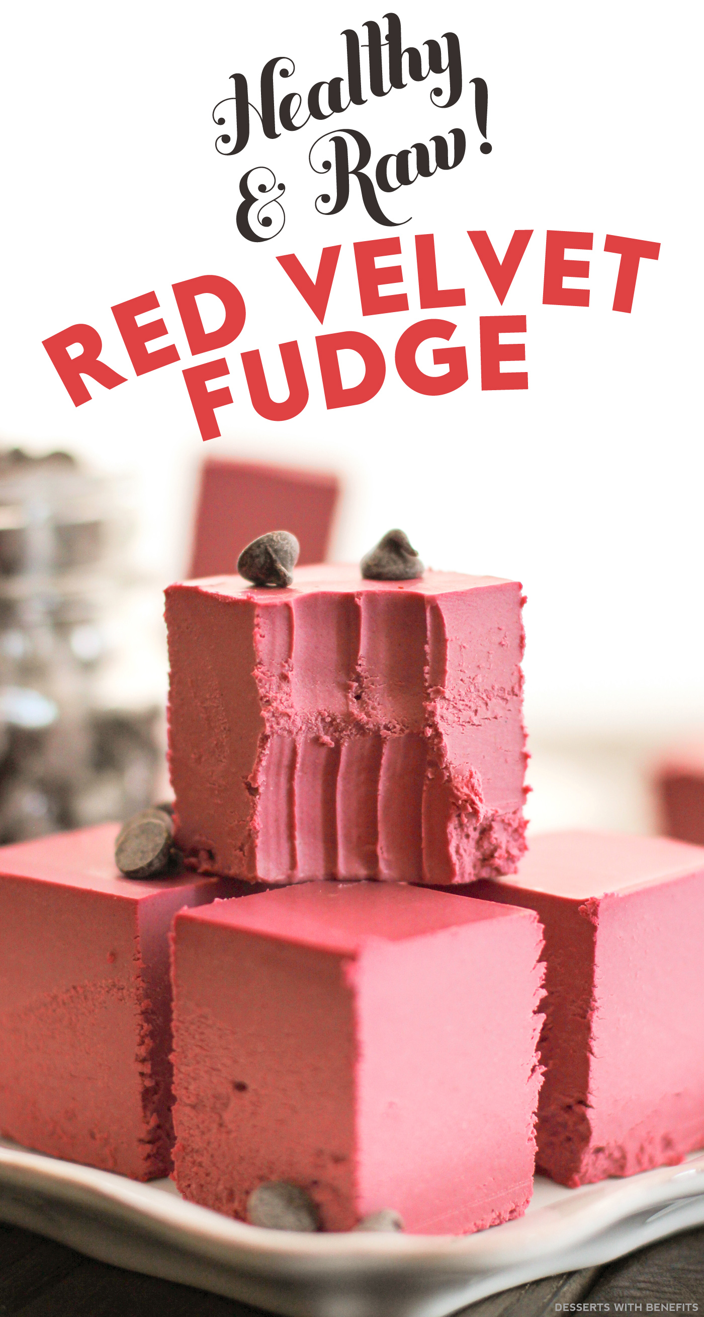 Healthy Raw Red Velvet Fudge recipe (refined sugar free, low carb, high fiber, gluten free, dairy free, vegan) - Healthy Dessert Recipes at Desserts with Benefits