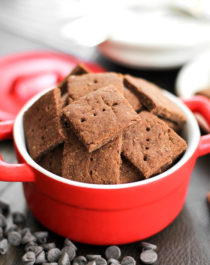 Healthy Chocolate Flax Crackers (refined sugar free, low fat, high protein, high fiber, gluten free, vegan) - Healthy Dessert Recipes at Desserts with Benefits