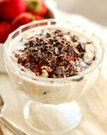 Healthy Samoas Overnight Dessert Oats (low sugar, high fiber, gluten free, vegan) - Healthy Dessert Recipes at Desserts with Benefits