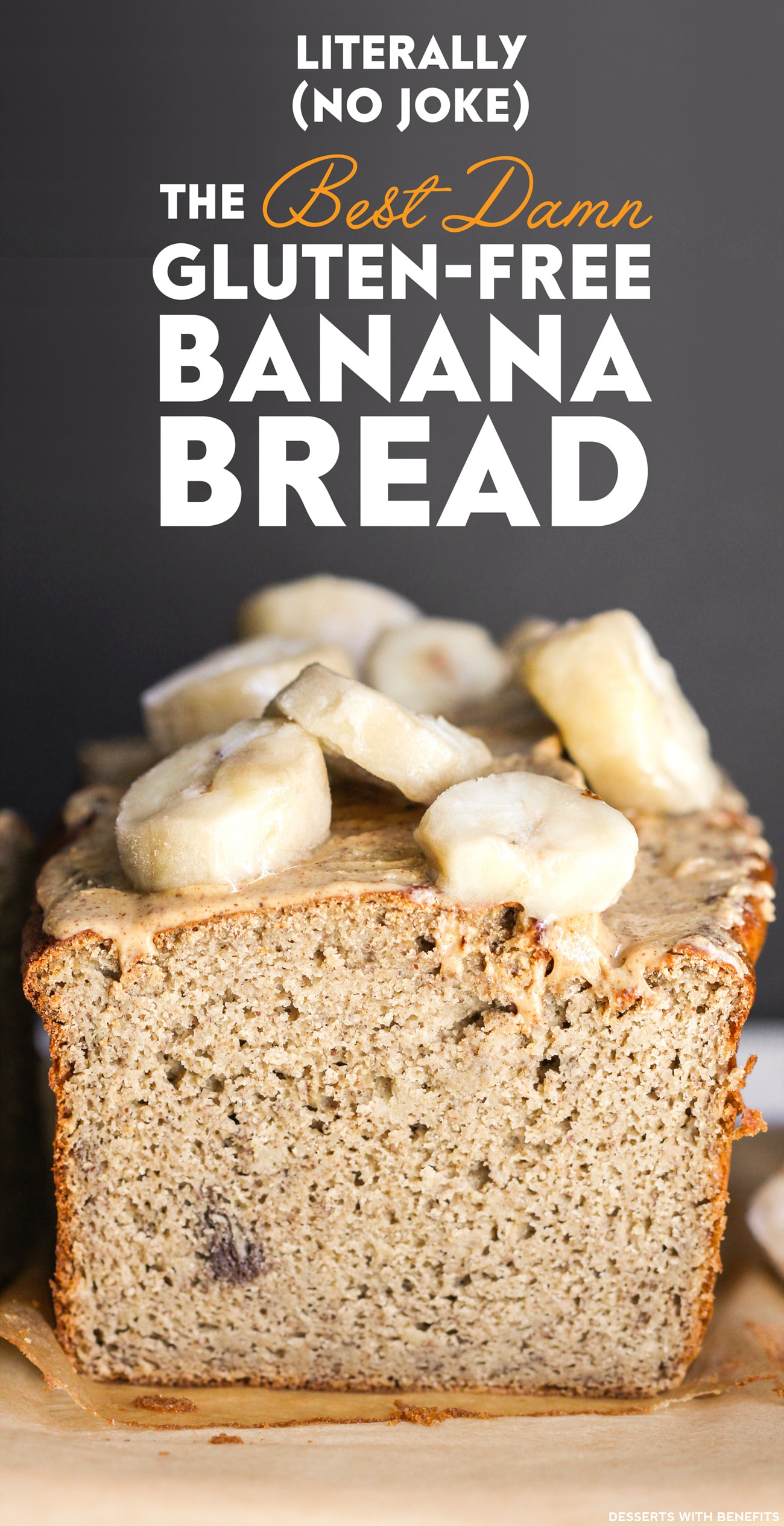 20 Healthy Desserts You Can Eat For Breakfast: 16) Healthy Banana Bread (refined sugar free, high protein, high fiber, gluten free, dairy free) - Healthy Dessert Recipes at Desserts with Benefits