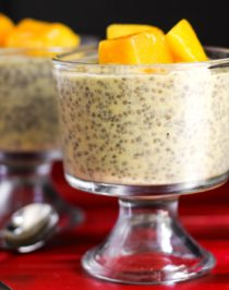 Healthy Mango Cardamom Chia Seed Pudding (refined sugar free, low fat, low calorie, high fiber, gluten free, dairy free, vegan) - Healthy Dessert Recipes at Desserts with Benefits