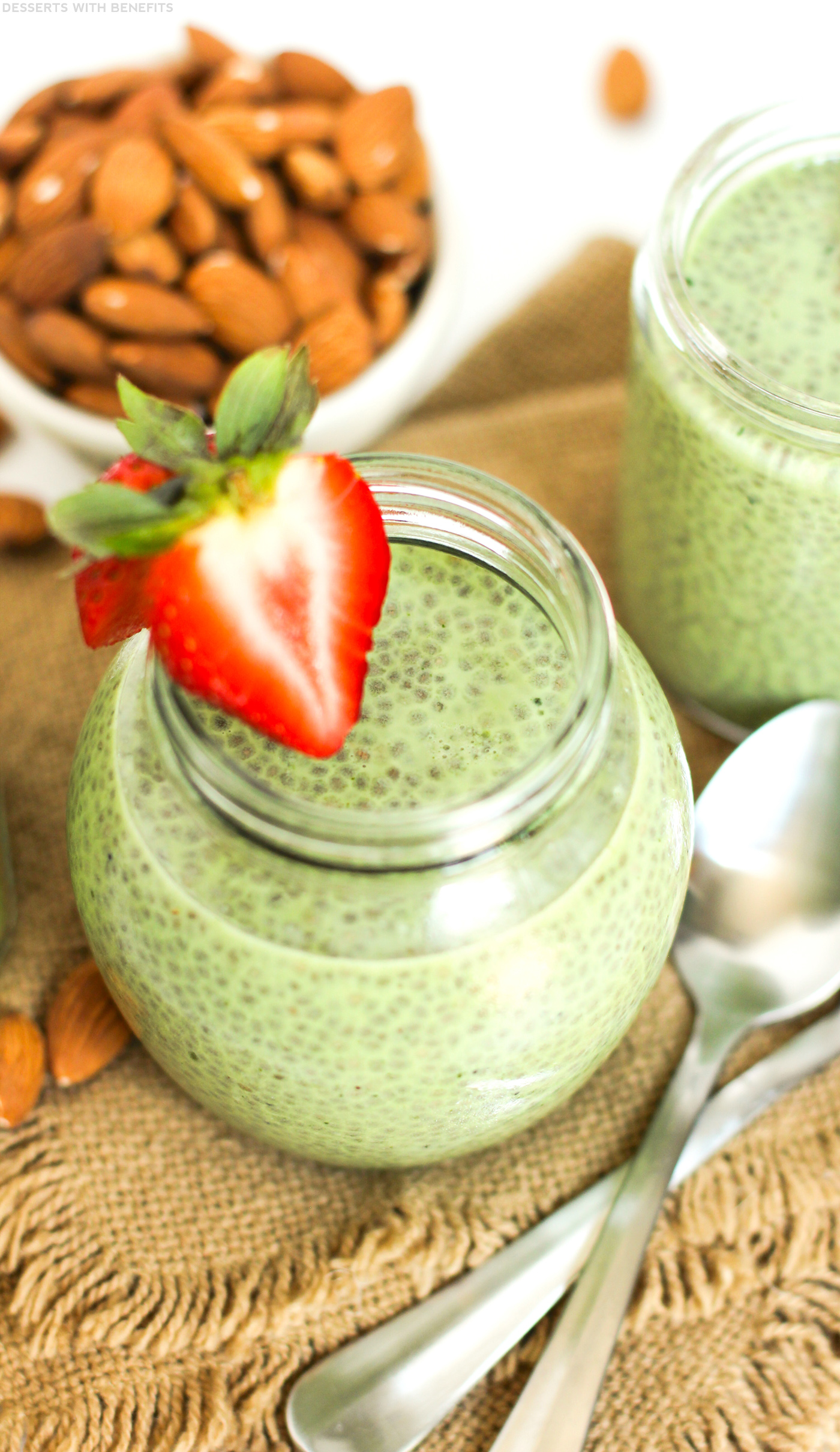 Healthy Matcha Green Tea Chia Seed Pudding (vegan, gluten ...