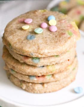 Healthy Funfetti Shortbread Cookies recipe (sugar free, gluten free, dairy free, vegan) - Healthy Dessert Recipes at Desserts with Benefits