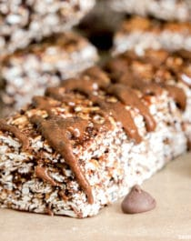 Healthy No-Bake Nutella Granola Bars (refined sugar free, high protein, high fiber, gluten free) - Healthy Dessert Recipes at Desserts with Benefits