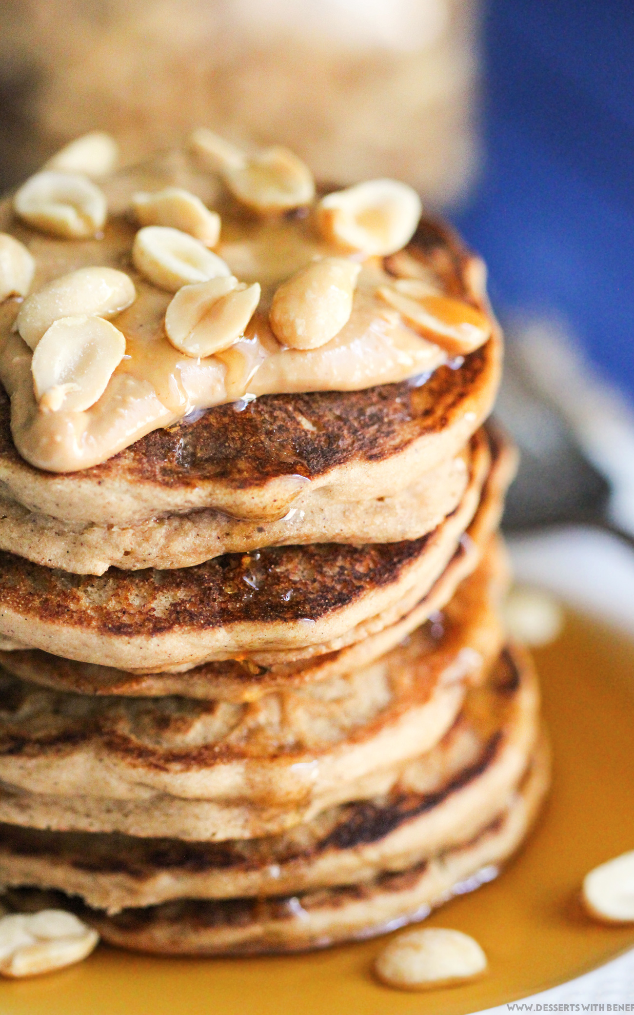 healthy peanut butter pancakes refined sugar free gluten. Black Bedroom Furniture Sets. Home Design Ideas