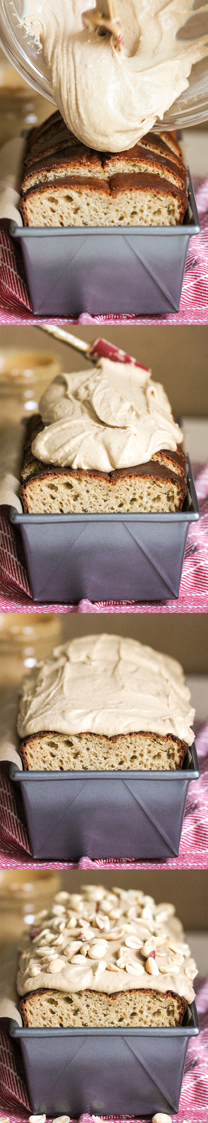 20 Healthy Desserts You Can Eat For Breakfast: 17) Healthy Peanut Butter Pound Cake with Peanut Butter Frosting (refined sugar free, high protein, high fiber) - Healthy Dessert Recipes at Desserts with Benefits